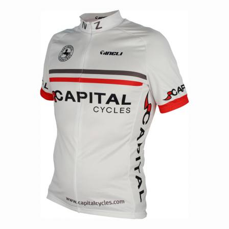 Capital Cycles White Jersey