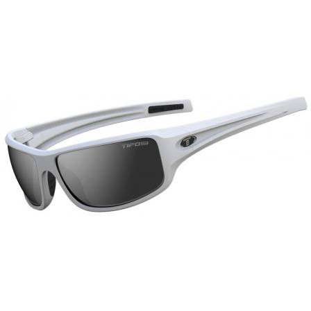 Tifosi Bronx Matte White with Smoke Lens