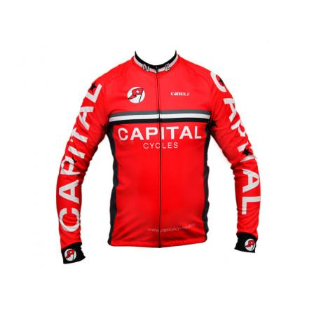 Capital Cycles Red Intermediate Jersey