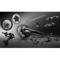 Shimano Deore XT M8100 12 Speed Groupset  Hubs/Brakes